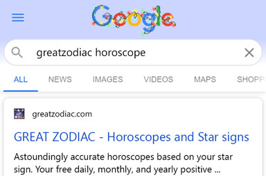 Advice how to search Great Zodiac daily horoscopes on the internet.